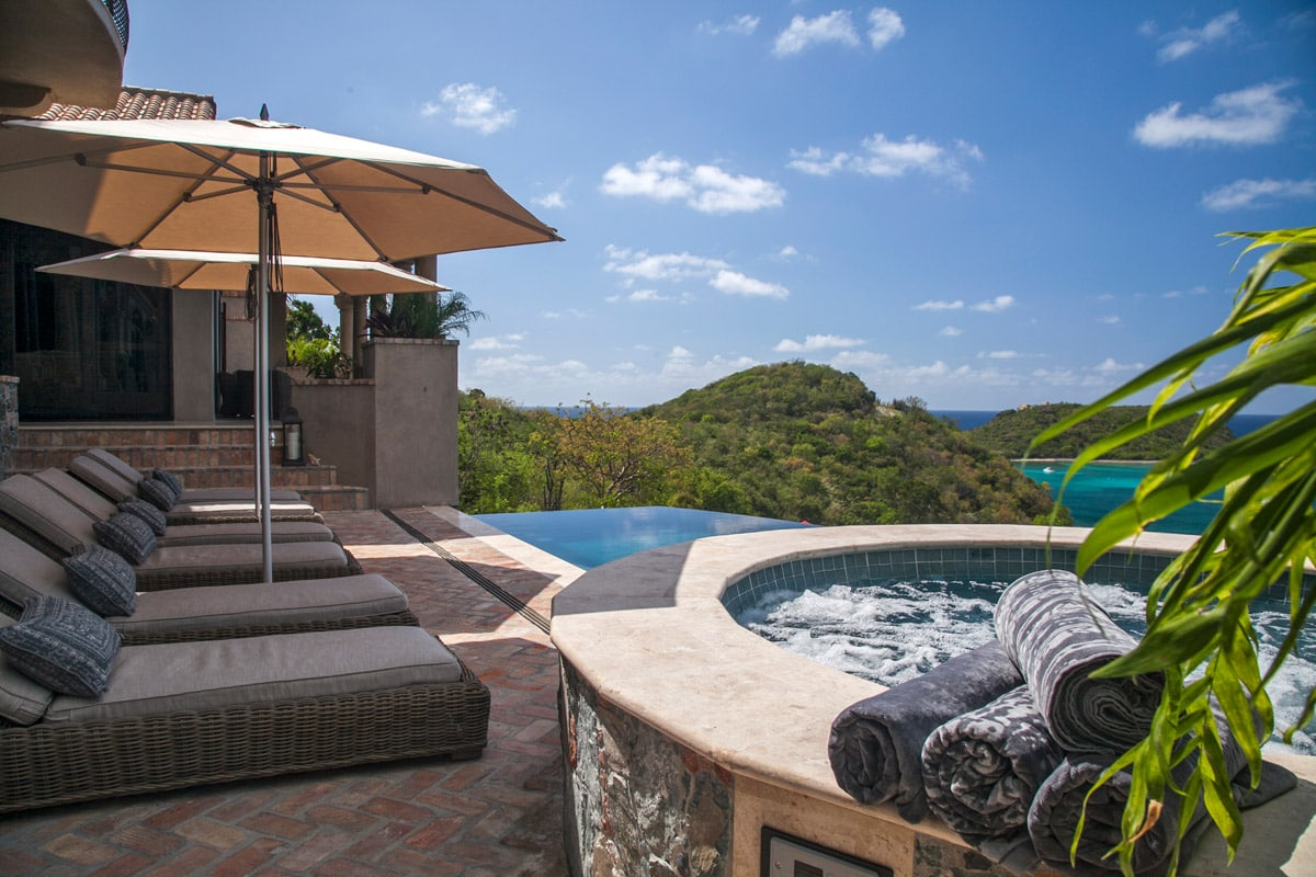 Chaise Lounges, Hot Tub And Pool