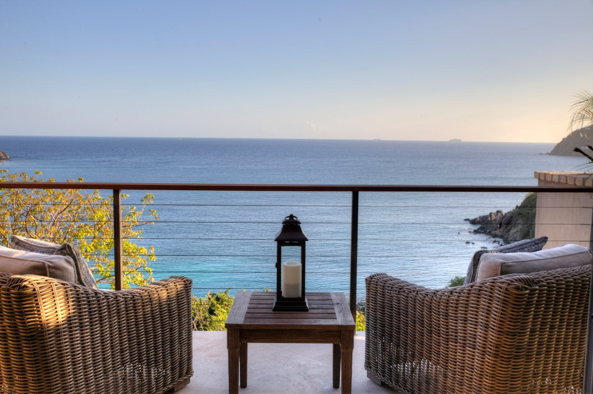 Patio Lounge Chairs And Ocean View